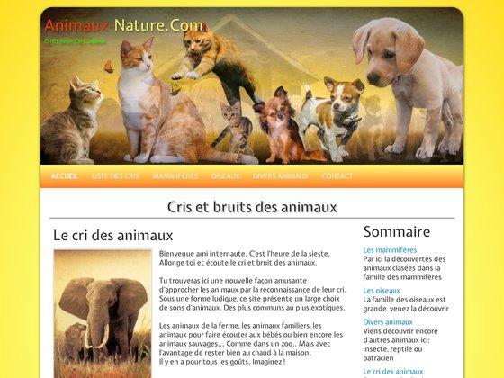 Animaux nature : cri et bruit de l'animal
