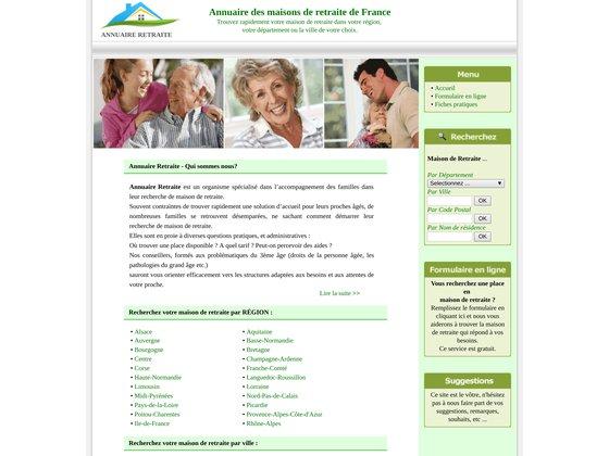 Annuaire des maisons de retraite de France