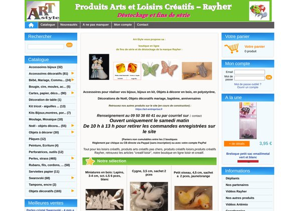 E-boutique déstockage produits loisirs et arts créatifs - rayher