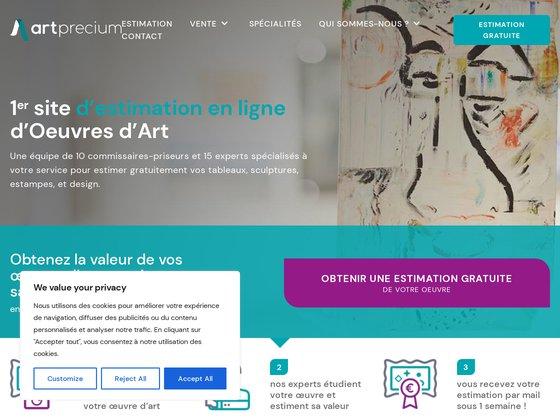 Artprecium, estimation gratuite en ligne,expert ta
