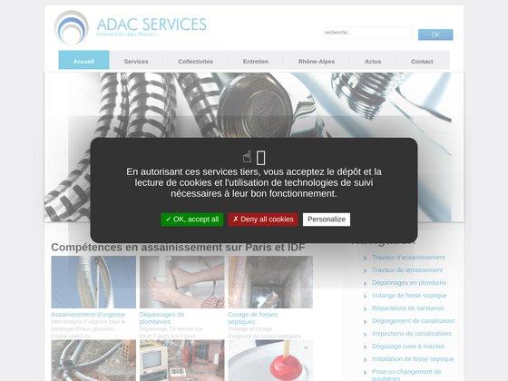 Adac services inspection dégorgement canalisation paris