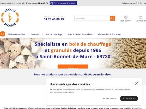 Bois de cheminée dans le Rhône (69) : Bois De Chauffage Rosa