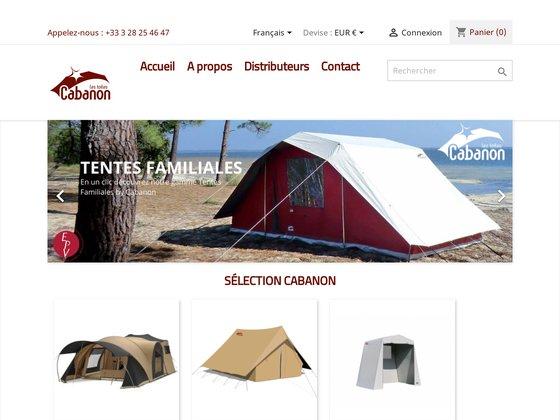 Tente de camping : cabanon