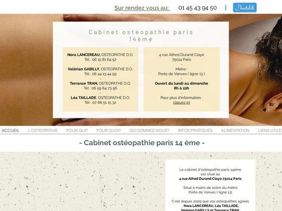 Ostéopathe paris 14 | Terrance TRAN et Nicolas AVOINE