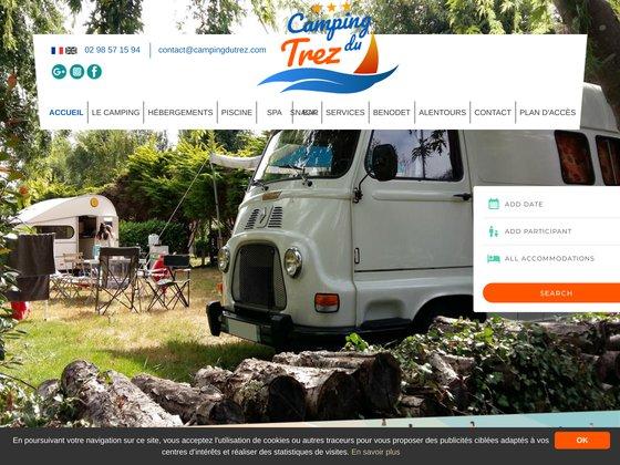 Plage, camping, chalet, Camping du Trez à Benodet