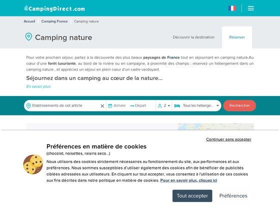 Camping et nature : Le guide des campings proches de la nature