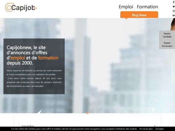 Capijob.com votre nouveau depart pour l'emploi