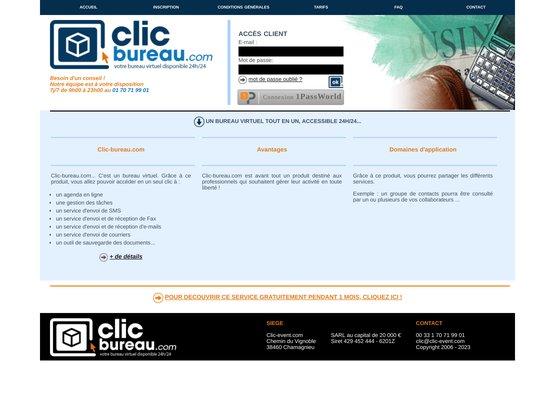 Clic-bureau.com - votre bureau virtuel disponible 24h/24