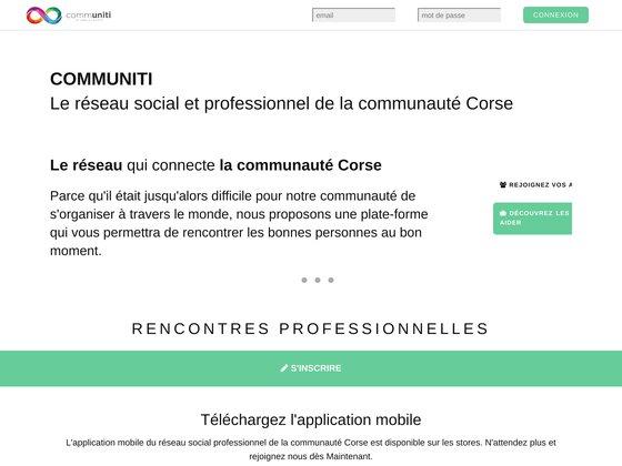 Communiti : réseau social & professionnel Corse