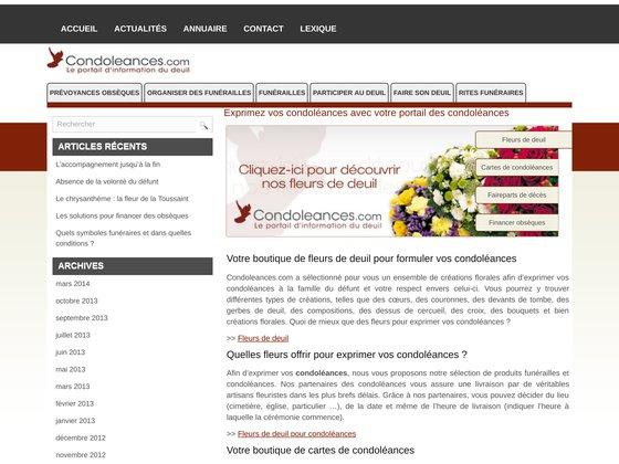 RESEAU FLEURI dévoile son portail d'informations condoleances.com