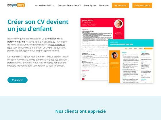 Doyoubuzz : création CV gratuit en ligne