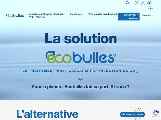 Ecobulles - nouvelle génération d'adoucisseur d'eau sans sel