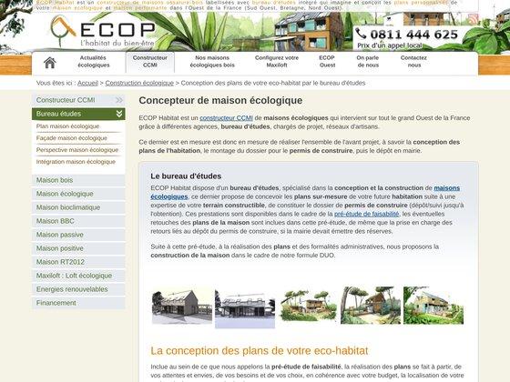 Plans de maison écologique personnalisés