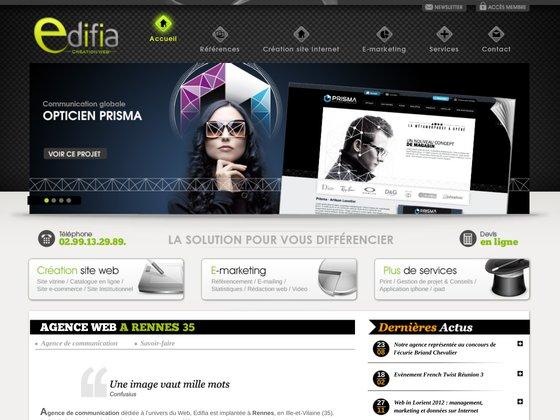 Agence Edifia Web: Création sites internet - Rennes (35)