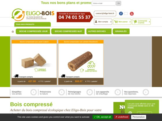 Eligo bois : vente en ligne de bois de chauffage