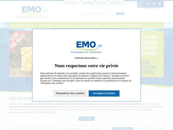 Emo France : ingénierie du traitement des eaux et boues