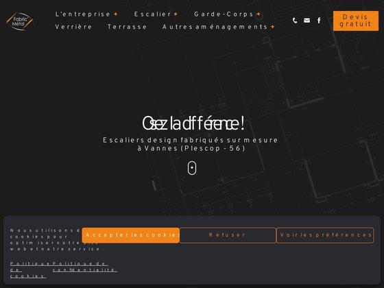 Escalier metallique, garde corps metal par Fabric Metal - Bretagne