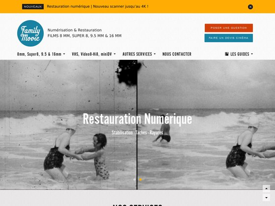 Family movie : transfert de films de famille super8 & vidéos sur dvd