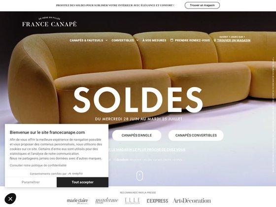 France Canapé: canapé convertible