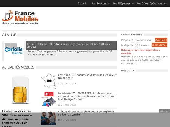 France Mobiles : Portail de téléphonie mobile