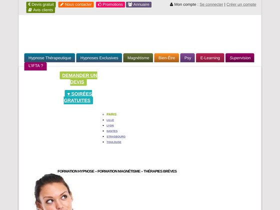 Formation en hypnose pour à Paris, Marseille, Lyon, Toulouse et Strasbourg