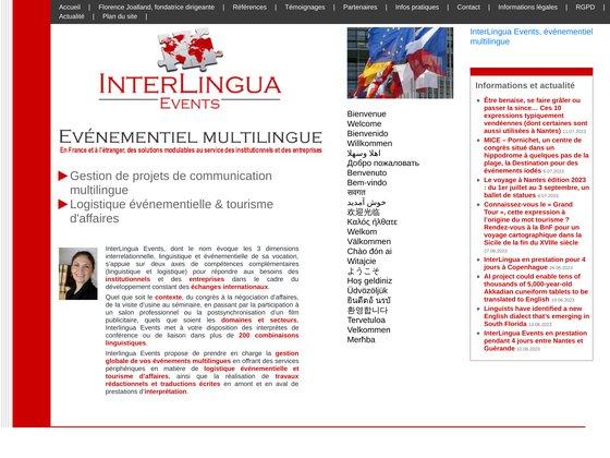 Interlingua events, evénementiel multilingue