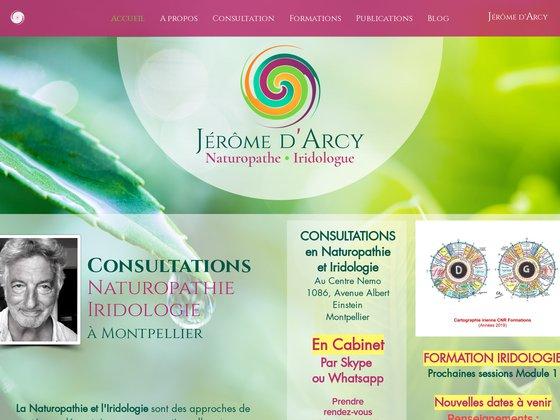 Jérôme D'Arcy, Naturopathie et iridologie