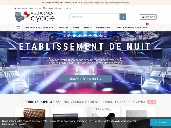 Mobilier pour discotheques, piano-bars..