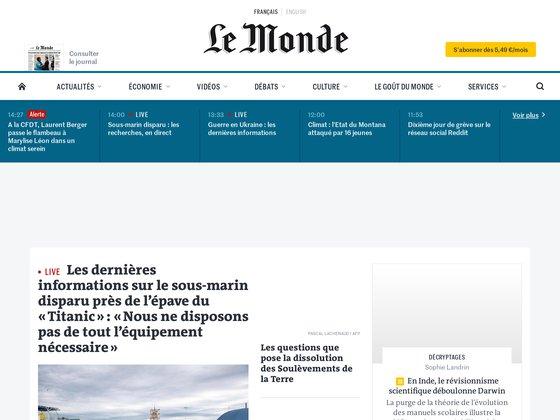 Le Monde.fr : Actualités à la Une