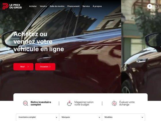 Le prix du gros - véhicule à vendre au québec