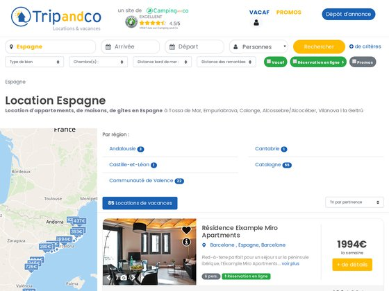 Location de vacances Espagne