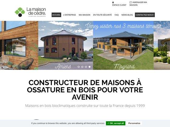 Constructeur de maison en bois - maison de cèdre