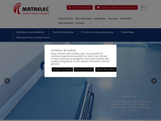 Entreprise de machines industrielle - Matrelec