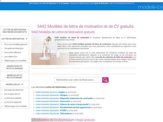 Modèle de CV et de Lettres de motivation