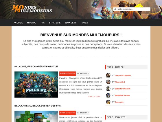 Jeux multijoueurs en ligne