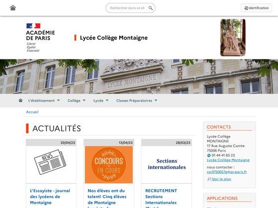 Collège Lycée Montaigne Paris