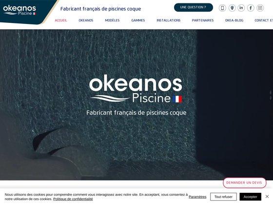 Piscines-okéanos : piscines coques polyester