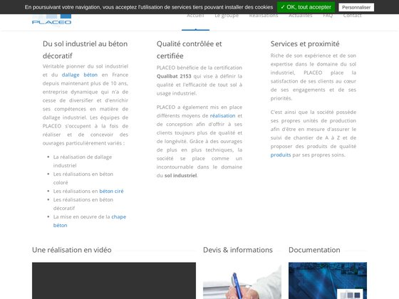 dallage industriel et sol béton - PLACEO