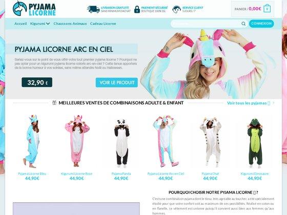 Boutique de pyjama pour enfants