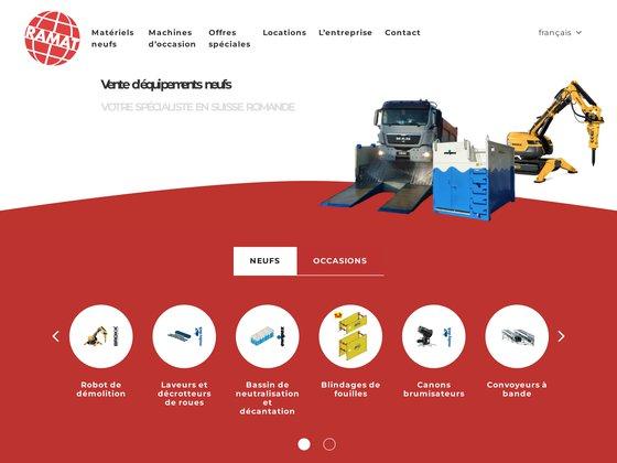 Ramat sa, machines de chantier d'occasion (suisse)