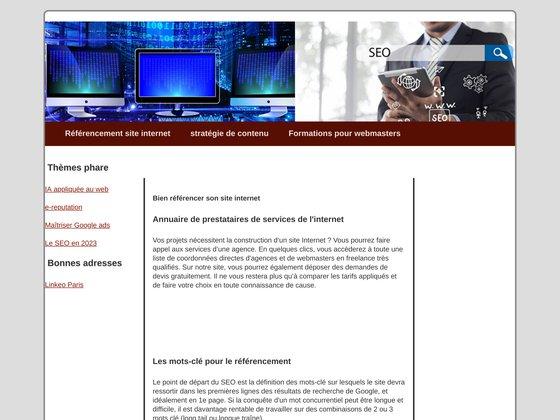 Referencement de site internet à Paris