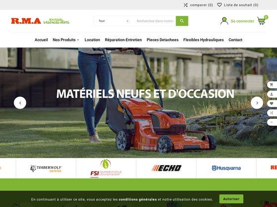 RMA MATERIEL: Vente tondeuse, tracteur et tronçonneuse en Isère