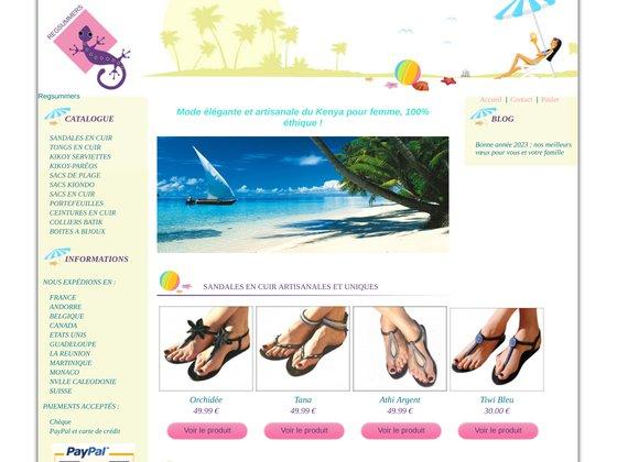 Regsummers: Sandales chics en cuir, tongs d'été pour femme