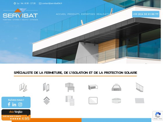 Servibat, spécialiste fermeture et isolation à Nice