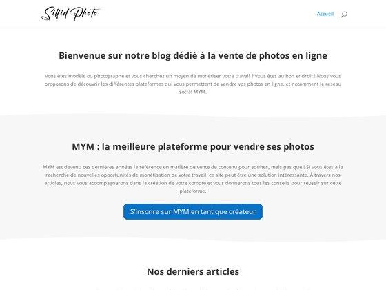 Solution de vente en ligne pour photographe
