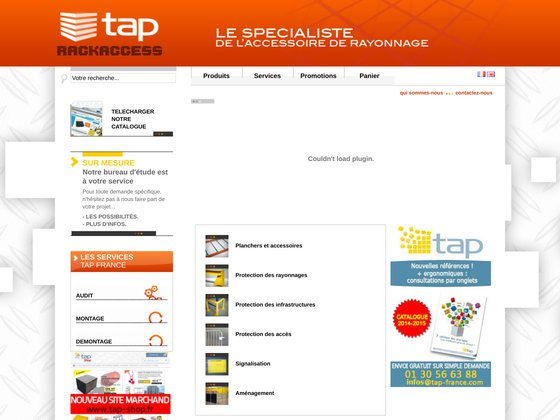 Tap rack access, fabricant de rayonnage industriel