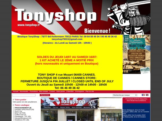 Maquettes TonyShop