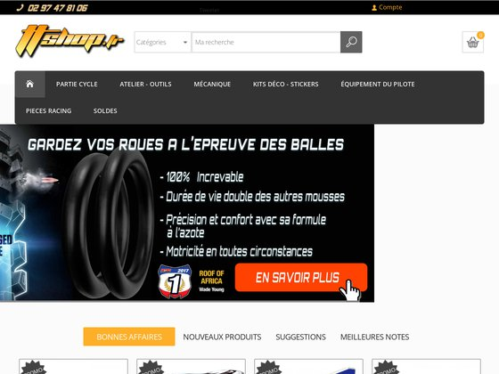 TTshop.fr Pièces et accessoires moto tout-terrain