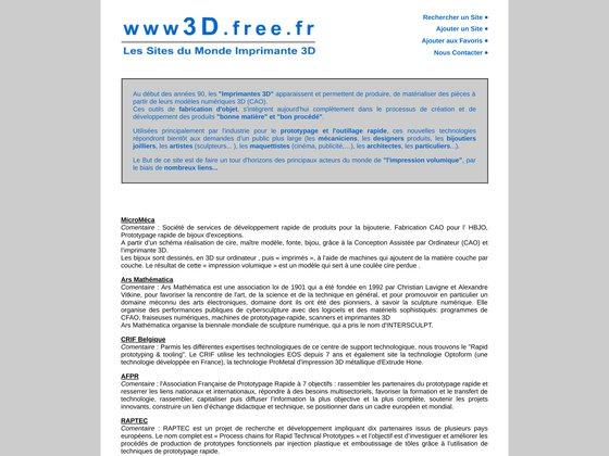 www3D.free.fr - Les sites du monde IMPRIMANTE 3D