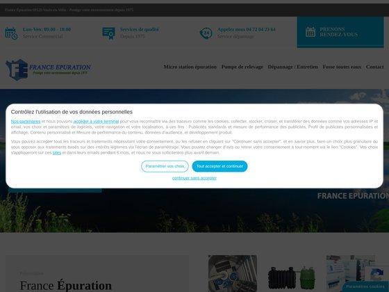 France Epuration : Entreprise de prestation de traitement des eaux usées